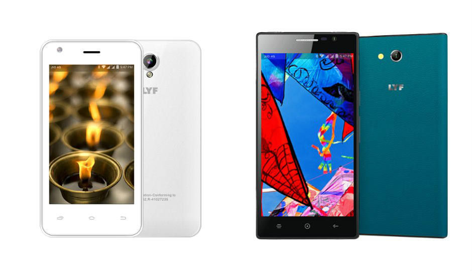 Reliance LYF Flame 2, Wind 4 phones launched at Rs. 4,799, Rs. 6,...