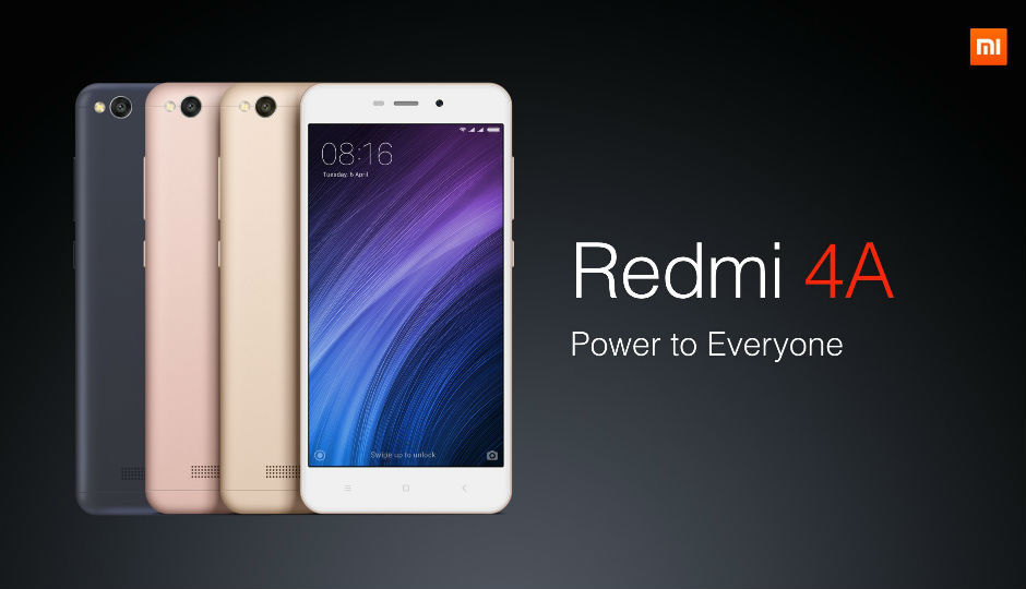 Xiaomi Redmi 4A launched exclusively on Amazon India at Rs ...