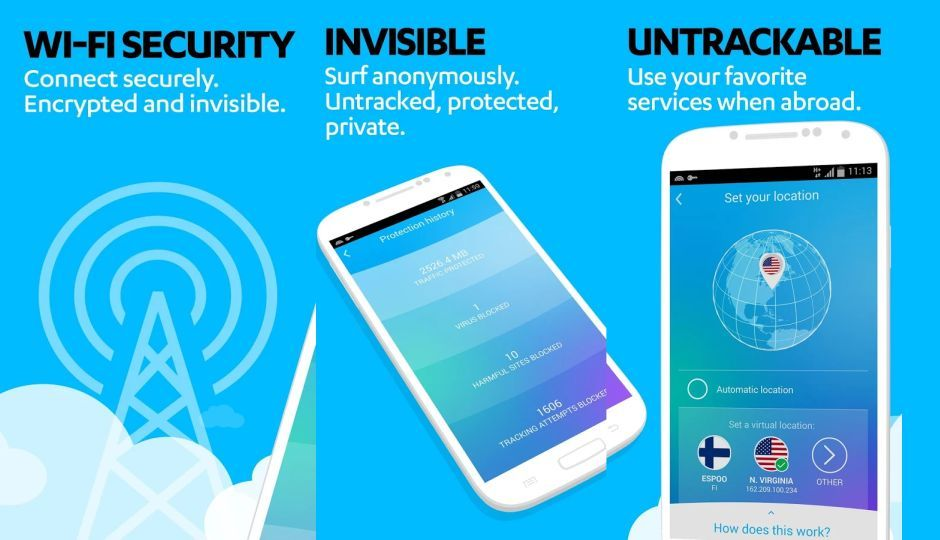 F-Secure's Freedome app lets you surf web anonymously