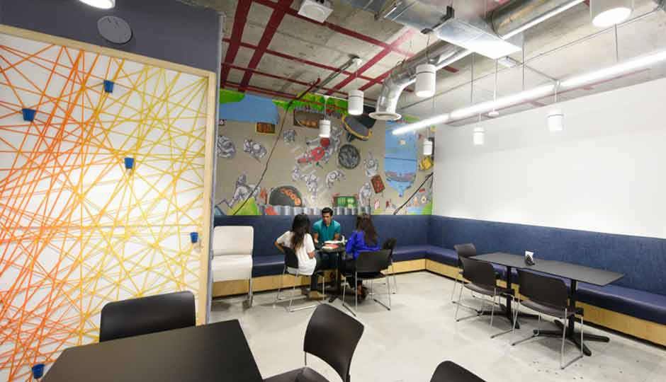 Slide 1 in pictures facebook s new office in mumbai for Aslam architects interior designs bangalore