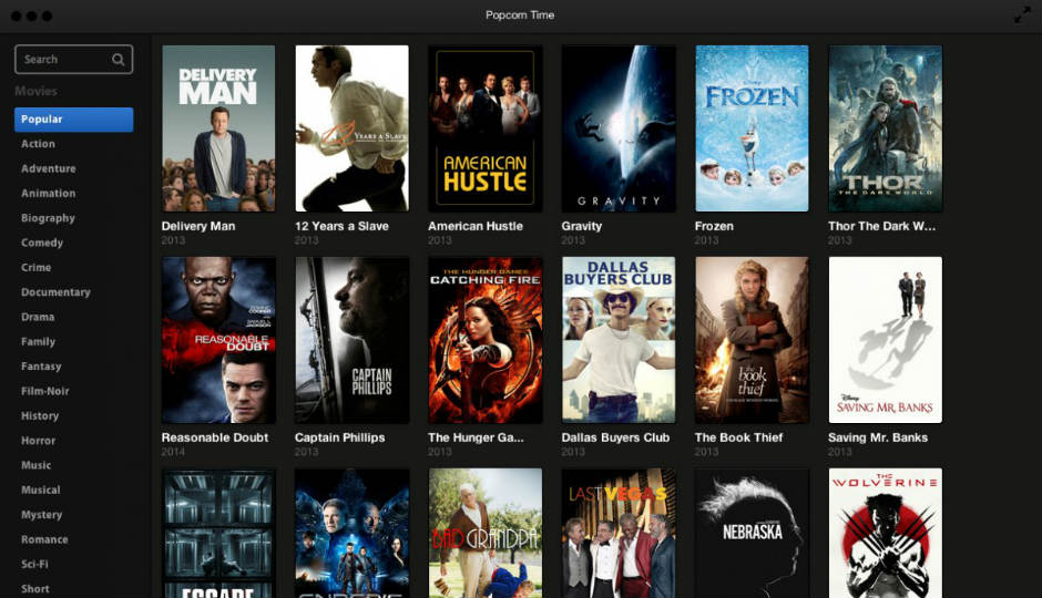 Popcorn Time: A new software to stream movie torrents for free