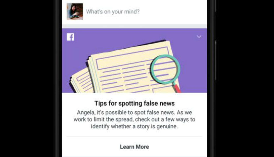 Facebook will offer tips for spotting fake news to users across 1...