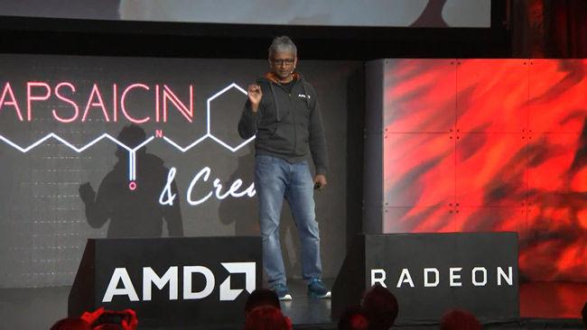 Raja Koduri AMD RX VEGA Graphics Card GDC 2017
