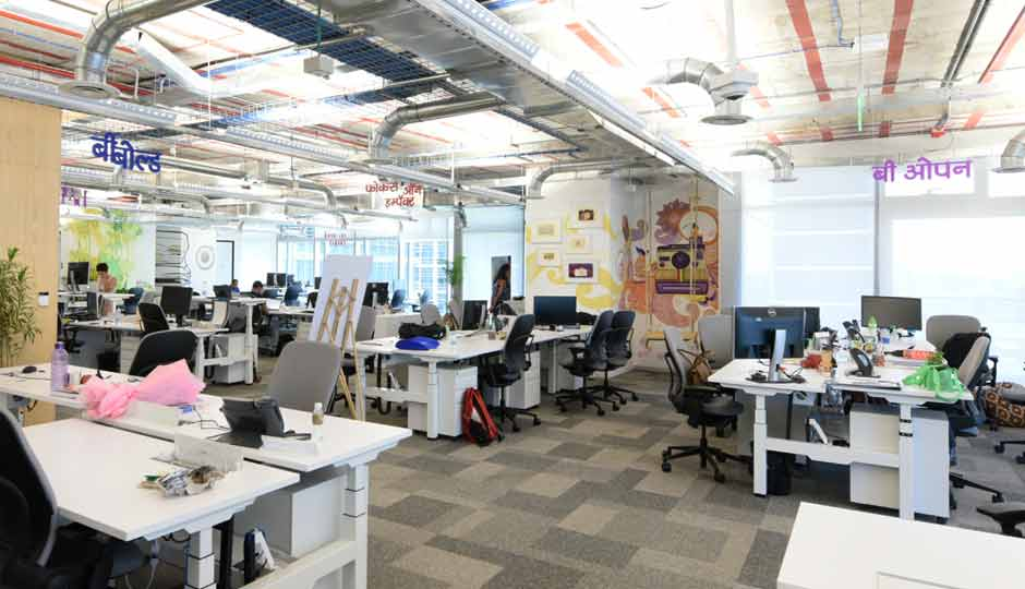 Slide 1 in pictures facebook s new office in mumbai for Interior design facebook pages