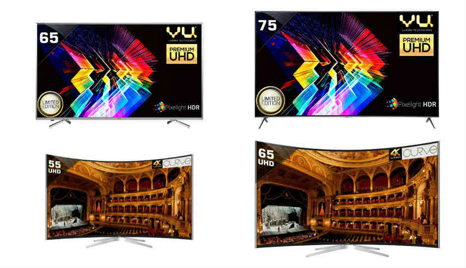 Vu launches new range of 4K HDR and Curved TVs in India