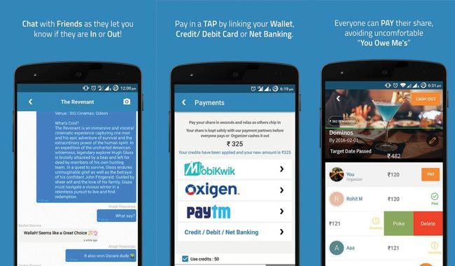 Pay using PayTM, Mobikwik and other wallets with a tap. Courtesy: Mypoolin