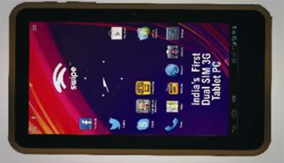 'Swipe Tab All-in-One' dual-SIM Android tablet launched for Rs. 11,999