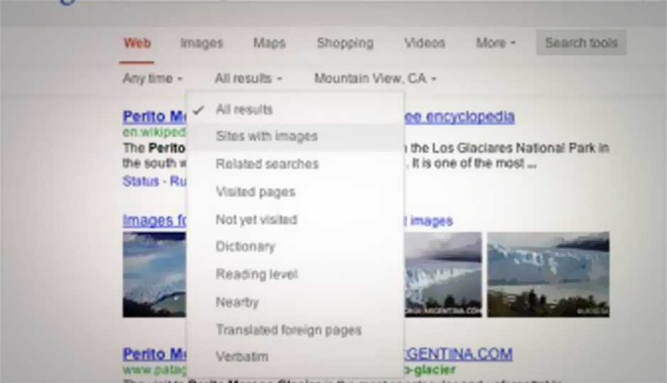 Google rolls out new search page layout, shifts navigation bar
