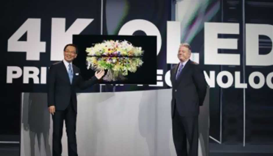 CES 2013: Panasonic launches world's first 56-inch 4K printed OLED TV