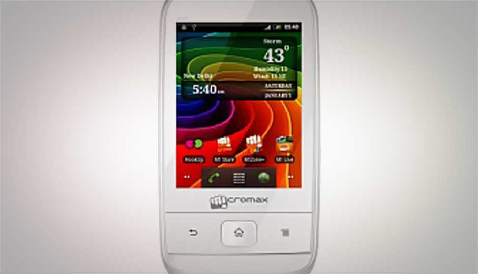 Micromax A30 Smarty 3.0 available in India for Rs. 3,849