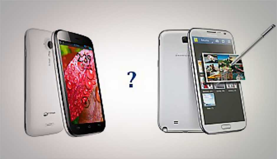 Micromax A116 Canvas HD vs. Galaxy Note II: Half the price, double the value?