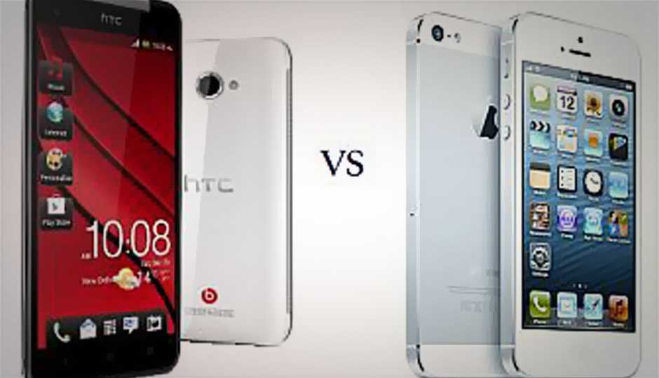 Expensive smartphone battle: HTC Butterfly versus Apple iPhone 5