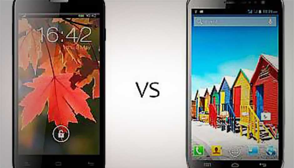 Lava Xolo Q800 vs. Micromax A116 Canvas HD:  Detailed Comparison