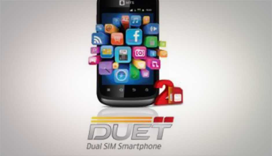 MTS Duet: Dual-SIM (CDMA+GSM) Gingerbread smartphone launched for Rs. 4,799