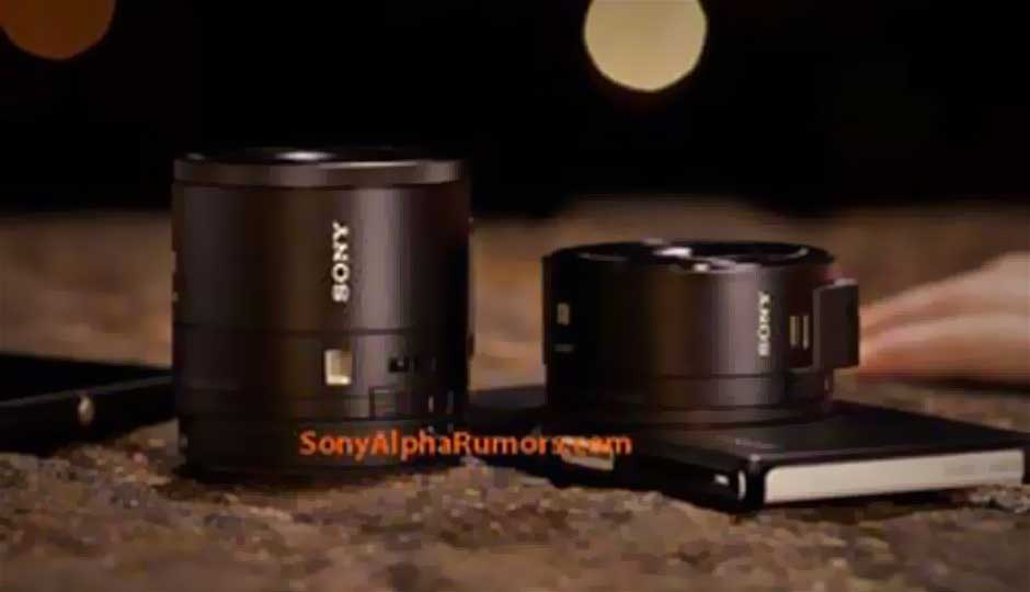 Sony camera-lens cellphone attachments leaked