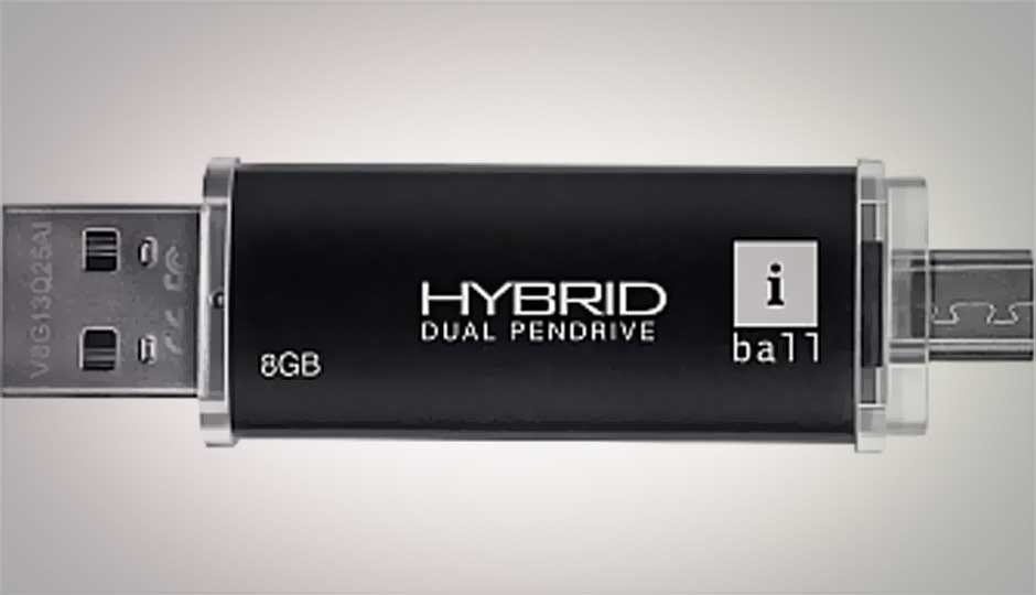 iBall launches hybrid dual connector pen-drive