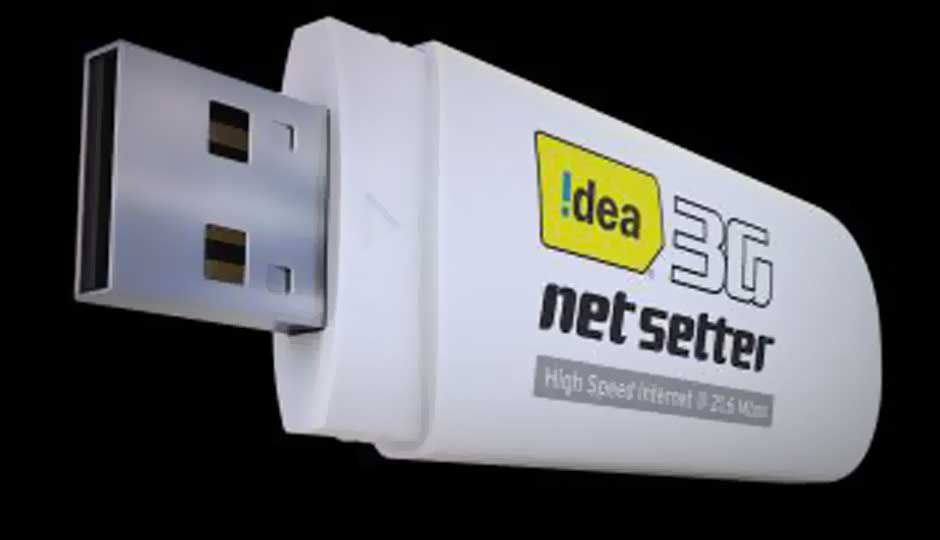 idea cellular launches 21 6 mbps 3g netsetter dongle for rs 2 160. Black Bedroom Furniture Sets. Home Design Ideas