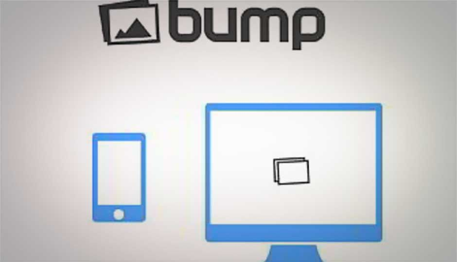 Bump for PC allows smartphone users to transfer images wirelessly to PC