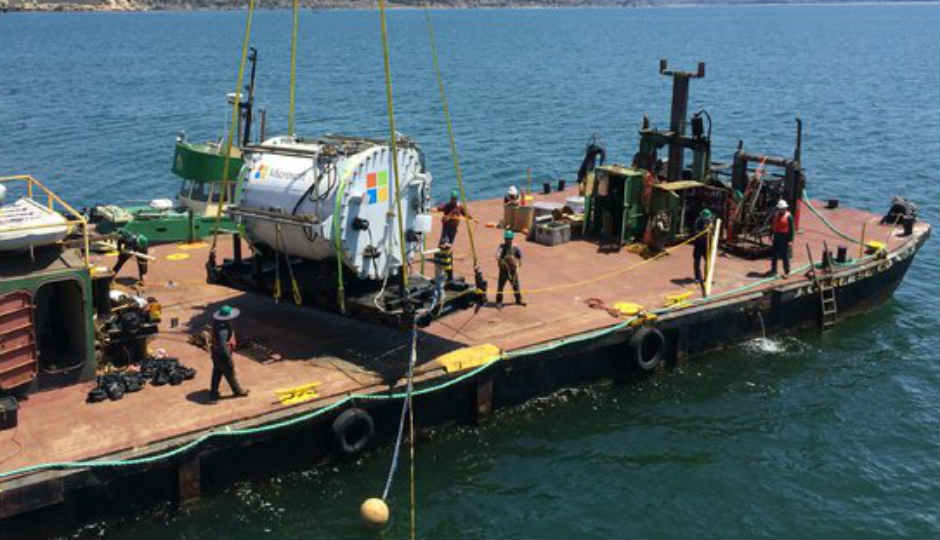 Microsoft plans to house future data centers below the ocean surf...