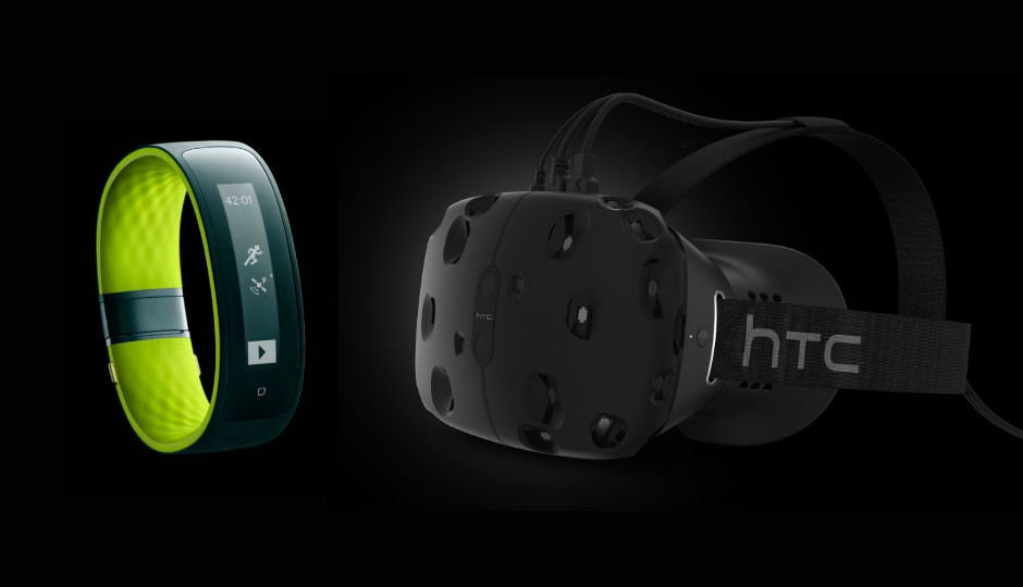 HTC unveils Grip fitness band & Vive VR headset