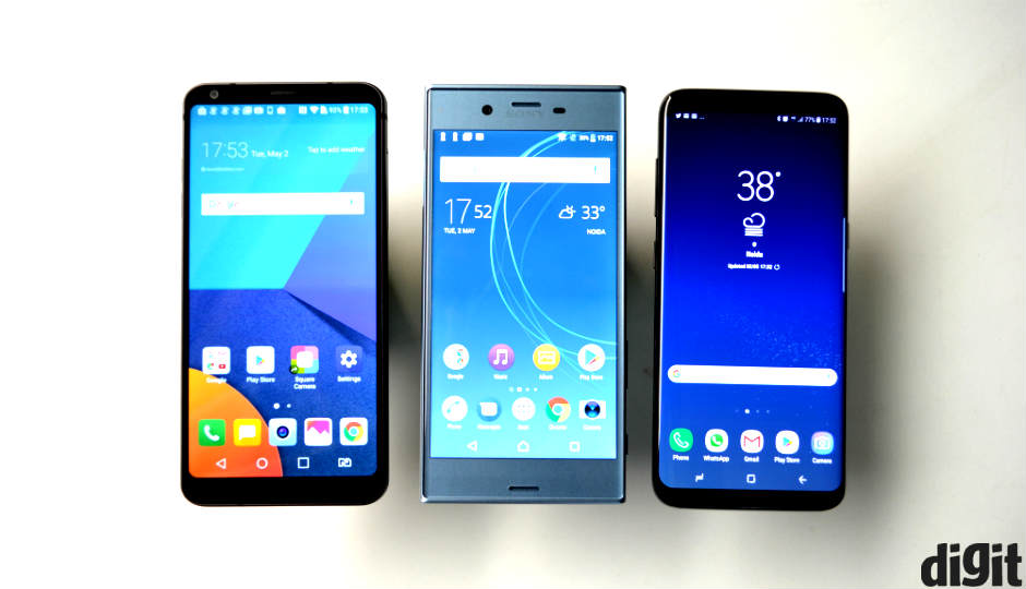 Samsung Galaxy S8 vs LG G6 vs Sony Xperia XZs: Performance ...