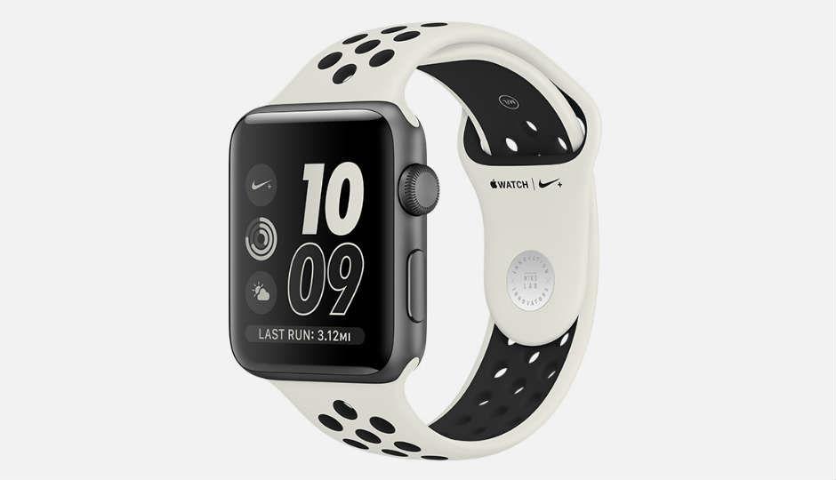 Apple Watch NikeLab with limited edition light bone/black band la...