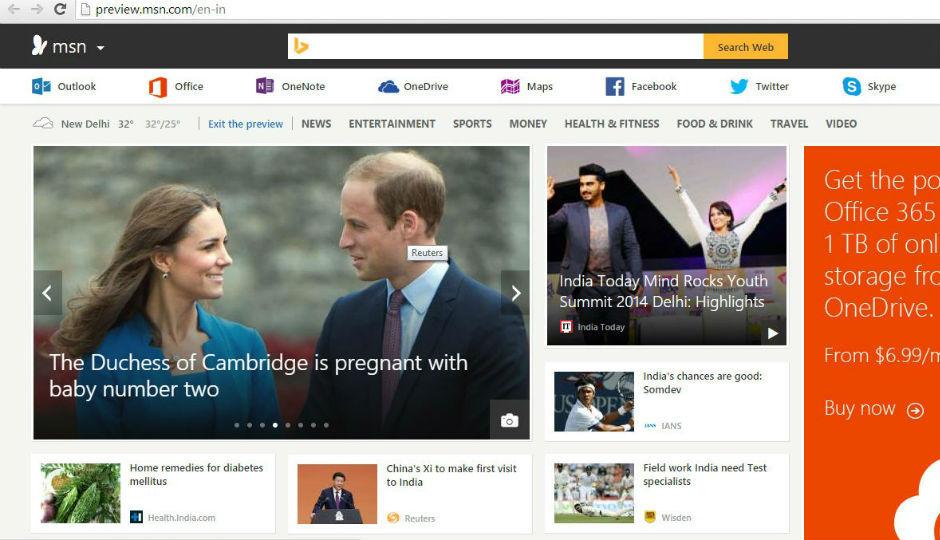 msn india news cricket bollywood video skype outlook html