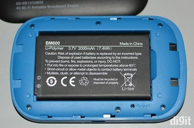 Digisol HR-1070MSE 4G wireless router  battery