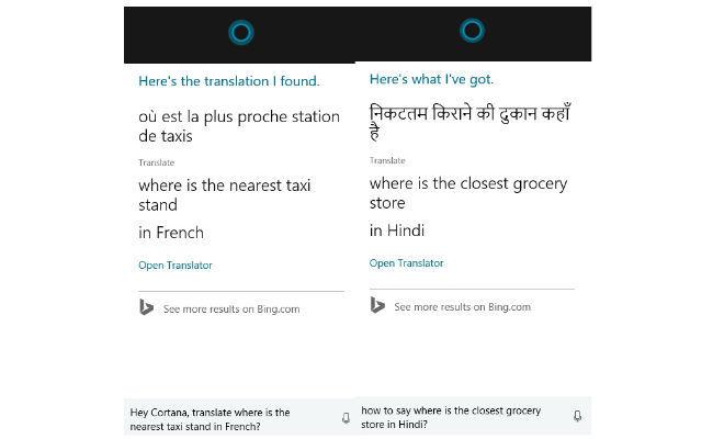 Cortana on windows 10 cortana can now translate words and phrases