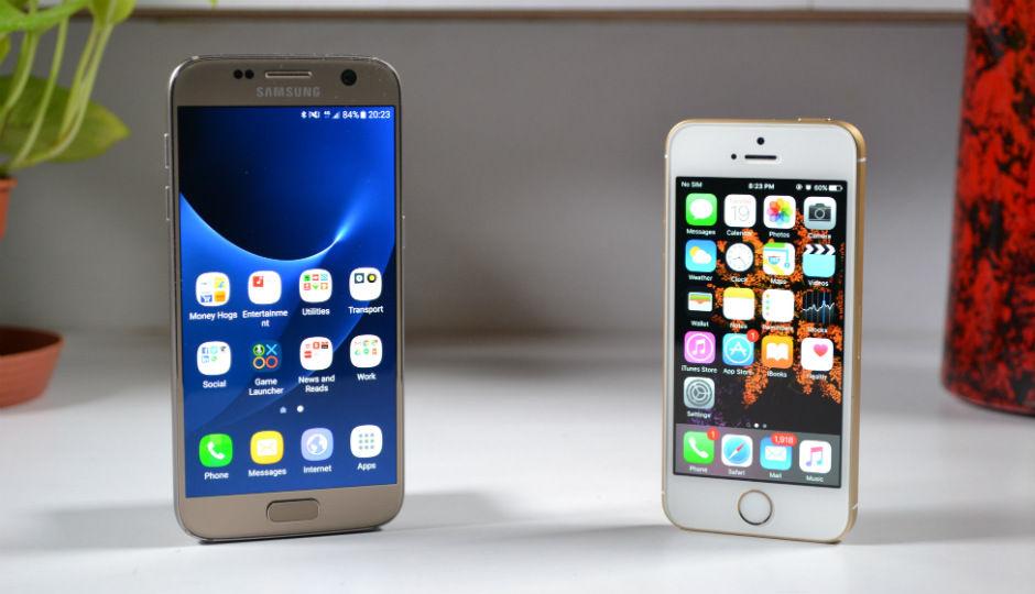 camera comparison apple iphone se v samsung galaxy s7