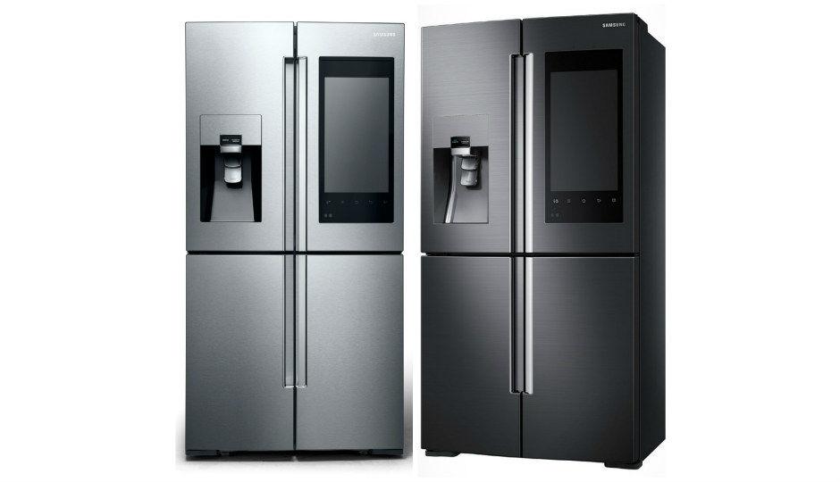 Ces 2016 samsung unveils family hub fridge with 21 5 inch - Frigorifico del futuro ...