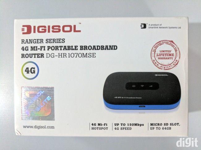 Digisol HR-1070MSE 4G wireless router box