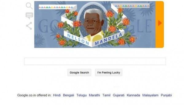 Google doodle celebrates Nelson Mandela's 96th birth anniversary