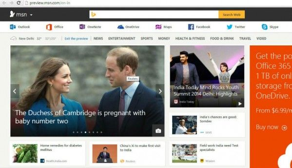 Microsoft launches redesigned MSN India website
