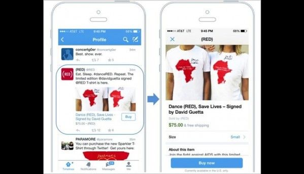 Twitter announces testing 'Buy' button