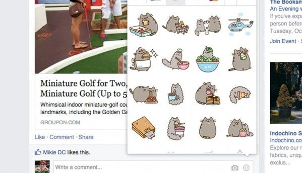 Facebook now lets you post Stickers in comments