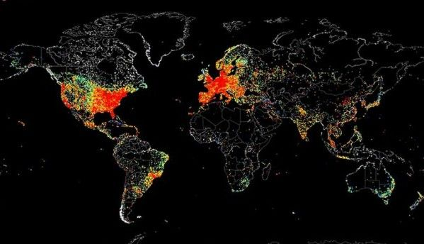 Map reveals countries where Internet goes to 'sleep' at night