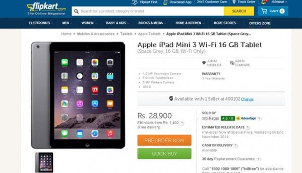 Apple iPad Air 2, iPad Mini 3 up for pre-order online in India