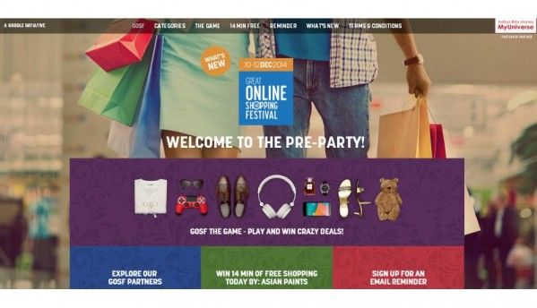 Google to host Great Online Shopping Festival December 10-12