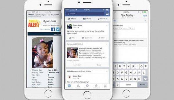 Facebook to post Amber alerts to find missing children