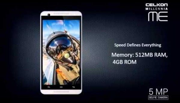 Celkon Millennia ME Q54 with 5MP front, rear cameras launched