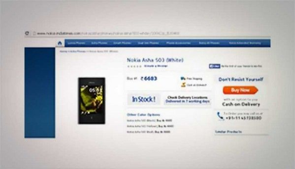 Nokia Asha 503 now available online for Rs. 6,683