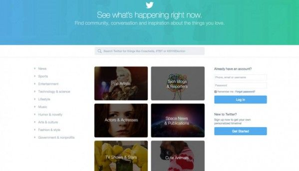 Twitter.com gets a revamped homepage