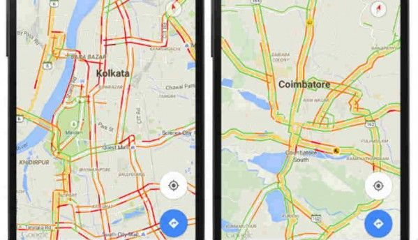 Google Maps introducing real-time traffic updates to more cities in India