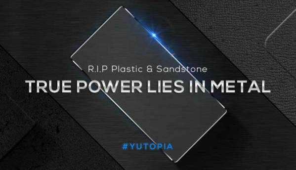 Yu teases metal build on Yu Yutopia, could be launched soon
