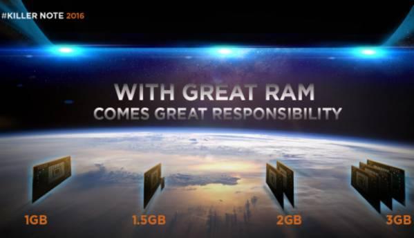 Lenovo K4 Note to sport 3GB RAM?