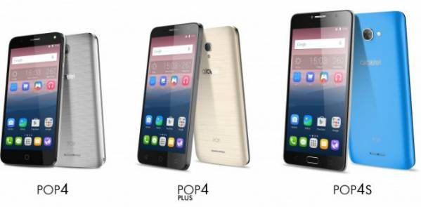 Alcatel unveils Pop 4, Pop 4+, and Pop 4S at MWC 2016