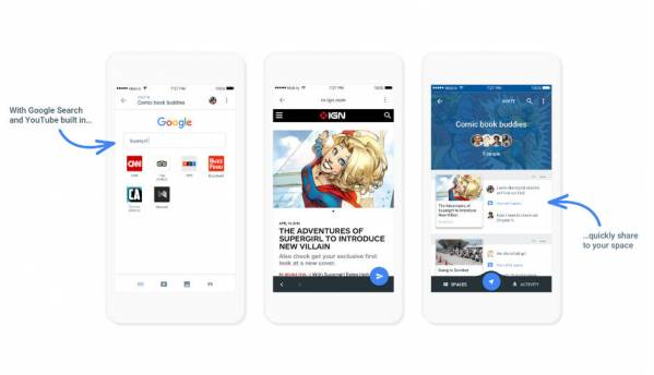 Google Spaces makes sharing easy on Android and iOS