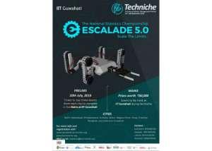 Mount Up Your Robotic Skills through Escalade-National Robotic Championship, -IIT Guwahati