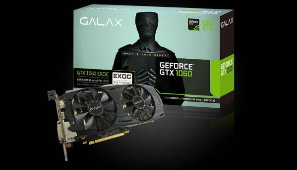 Galax GTX 1060 EXOC Black 6GB launched for Rs.23,600